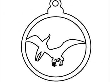 Елочный шар с динозавром  5