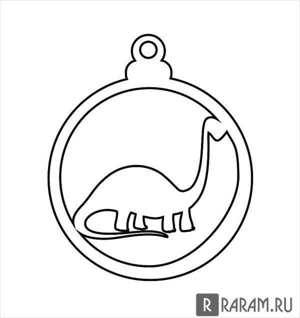 Елочный шар с динозавром 4