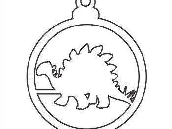 Елочный шар с динозавром 3