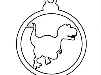 Елочный шар с динозавром  2