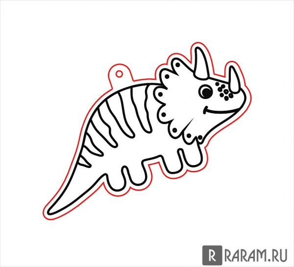 Подвесная игрушка в виде динозавра 6