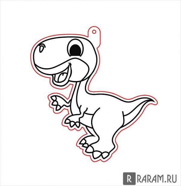 Подвесная игрушка в виде динозавра 5