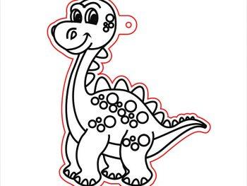 Подвесная игрушка в виде динозавра 4
