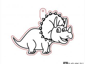 Подвесная игрушка в виде динозавра 2
