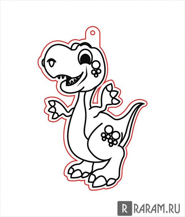 Подвесная игрушка в виде динозавра