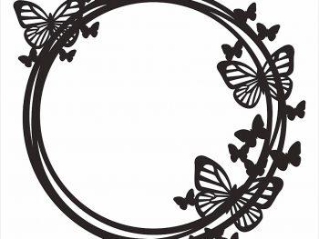 Кольцо с бабочками