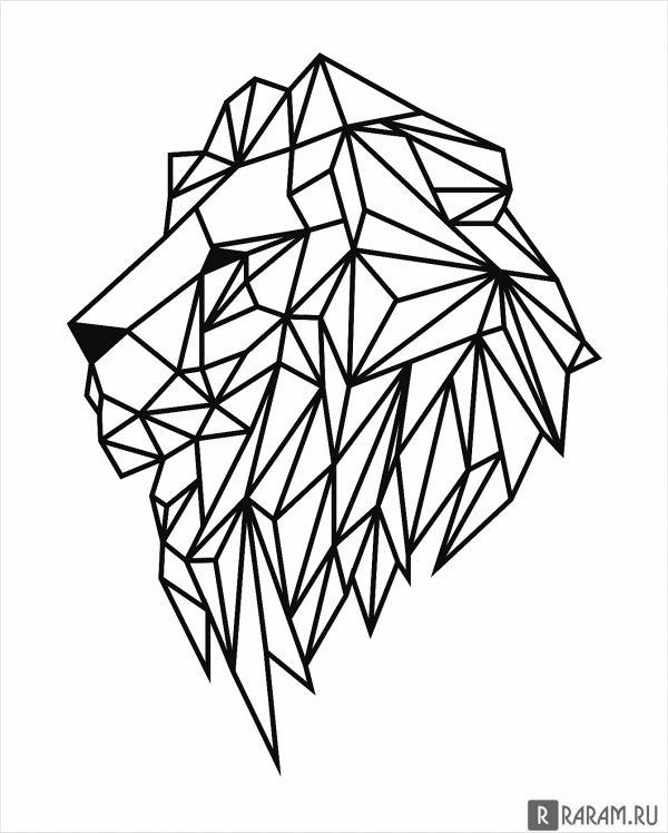 Профиль головы льва