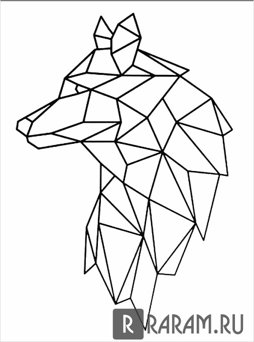 Геометрический профиль волка