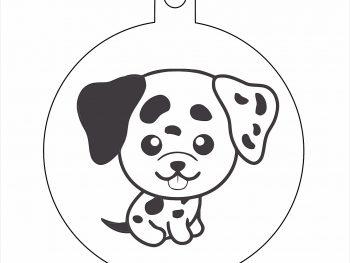 Подвесная игрушка собаки с черным ухом