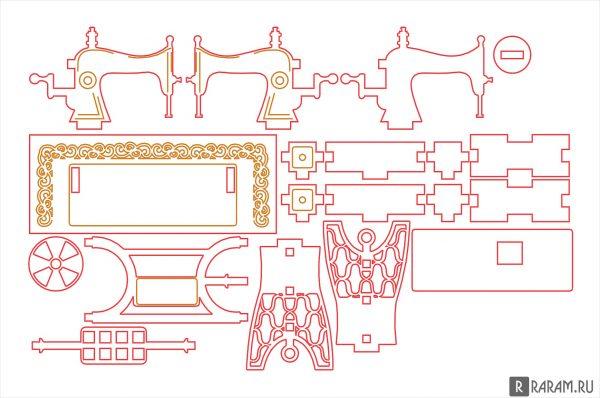 3D швейная машина