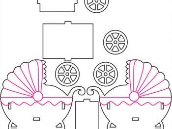 Детская коляска - коробочка