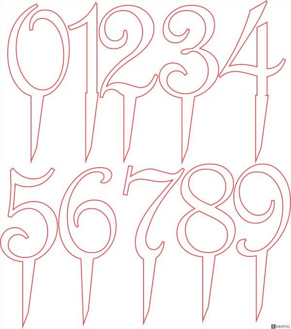 Топперы с номерами
