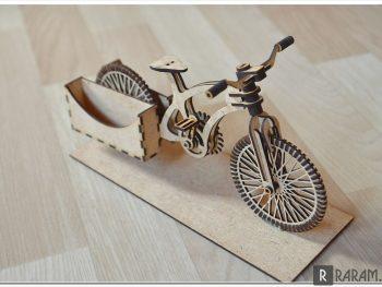 Визитница в виде велосипеда