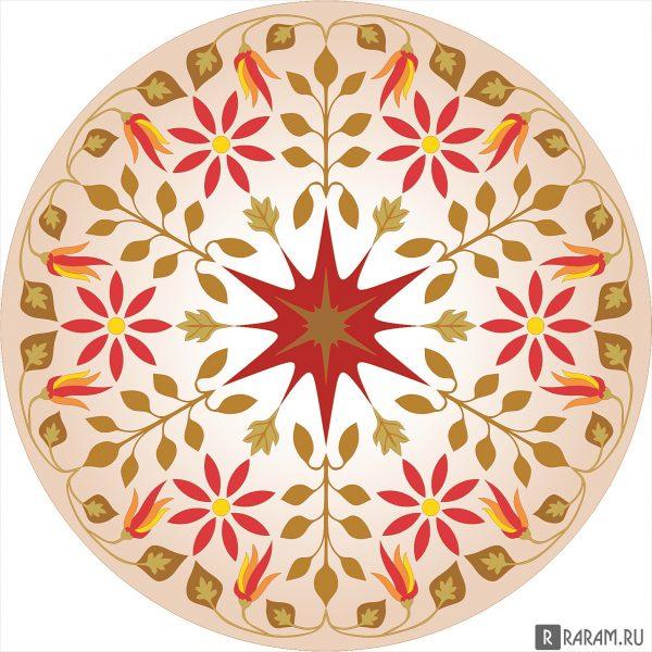 Цветочный круговой орнамент