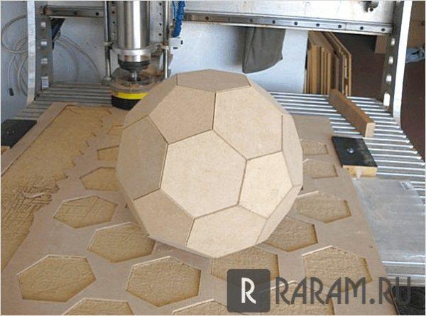 3D футбольный мяч