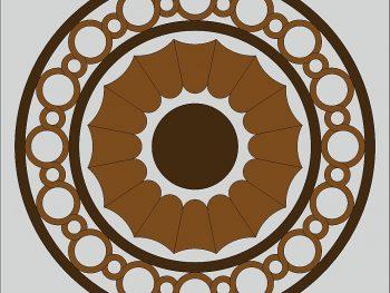 Круглый декоративный элемент