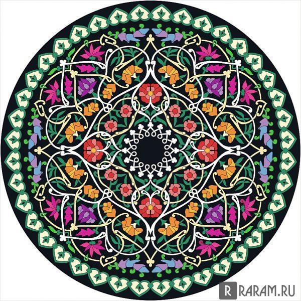 Нацарапанный круговой орнамент