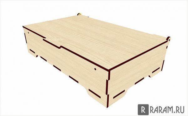 Прямоугольная коробка с перегородками