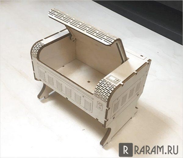Ящик в виде лазерной машины