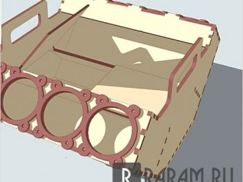 Коробка в виде мотора
