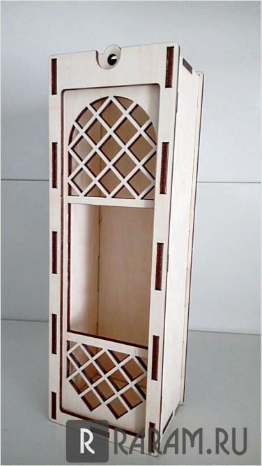 Коробка для вина с передним окном