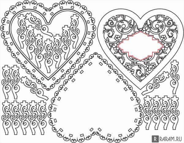 Ажурная шкатулка в форме сердца