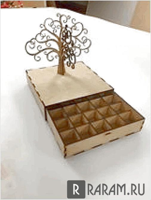 Ящик с делениями и с деревом