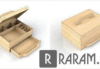 Ящик с ручкой и отсеками