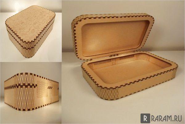 Коробка с гибкой крышкой