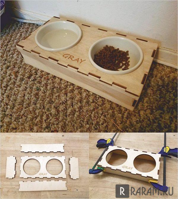 Держатель тарелки для собак