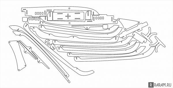 Сборный корабль