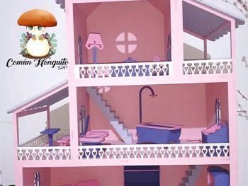 3-х этажный кукольный домик