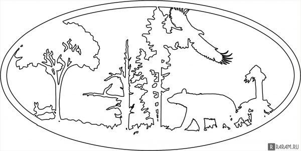Овал с натуральными элементами