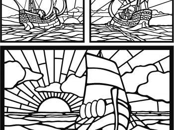 Лодка мозаика