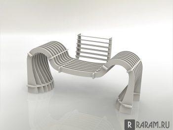 Современная скамейка
