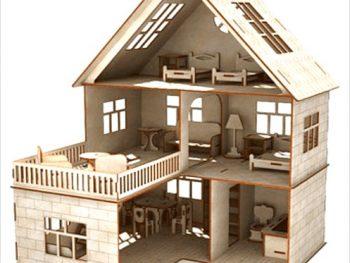 Кукольный домик с террасой