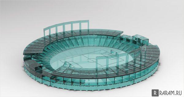 Круговой футбольный стадион