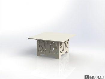 Журнальный столик квадратный