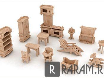 Комплект миниатюрной мебели